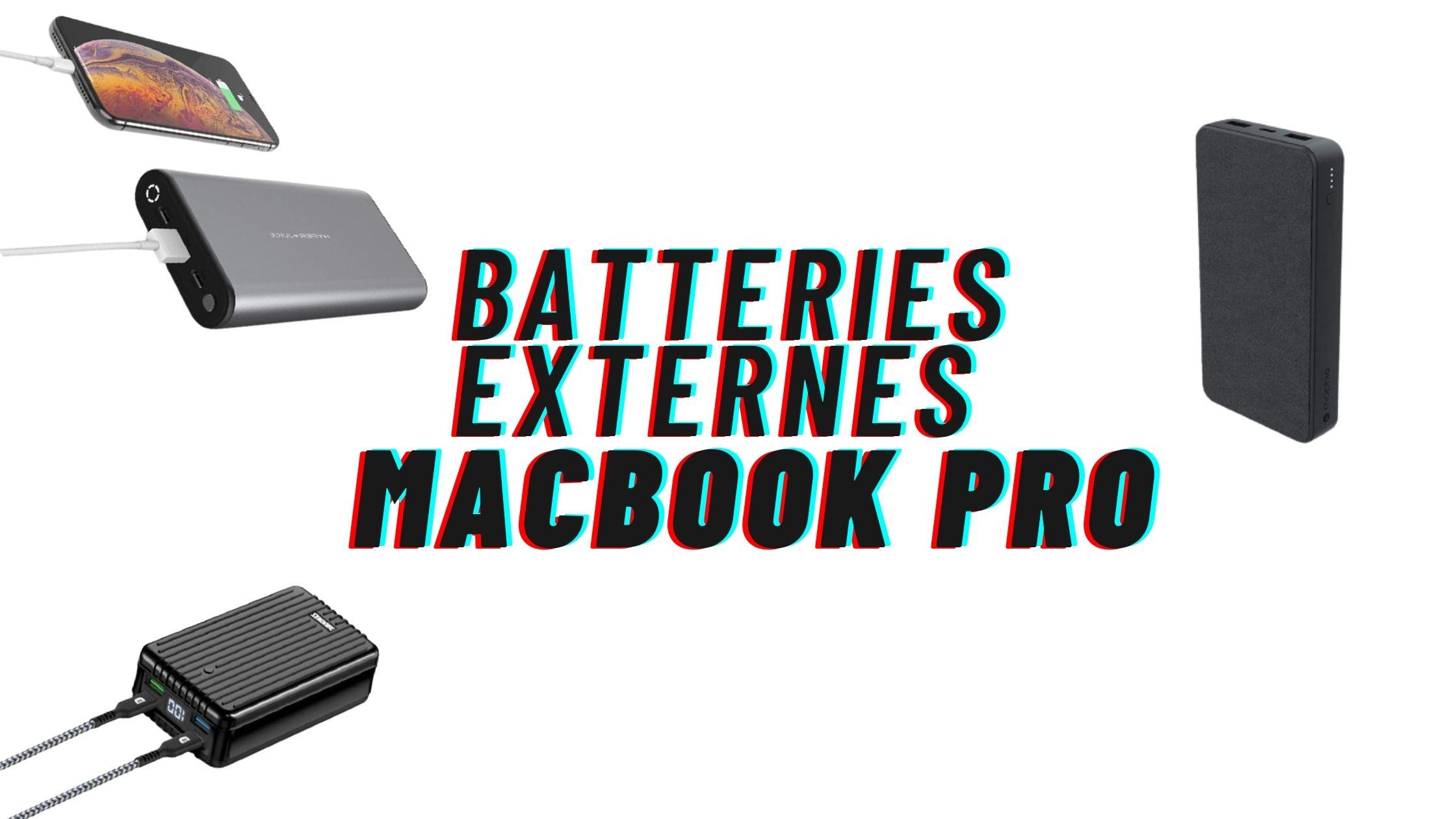 batteries externes macbook pro