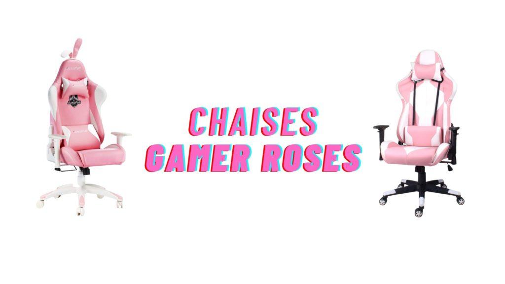 chaises gamer roses