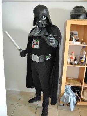 cosplay dark vador a la minecraft