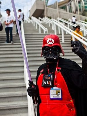 cosplay dark vador mario