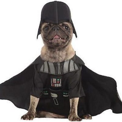 dark vador cosplay dog